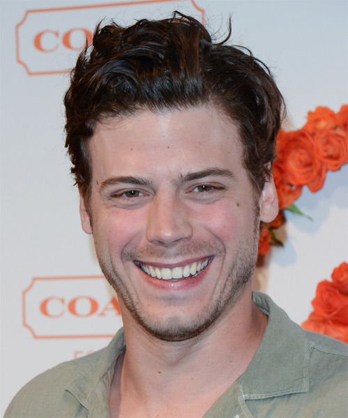 Francois Arnaud Short Straight Casual Hairstyle Brunette