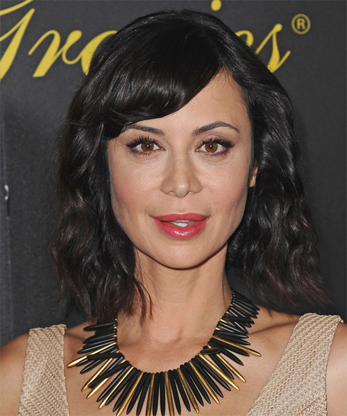 Catherine Bell Medium Wavy Casual Hairstyle