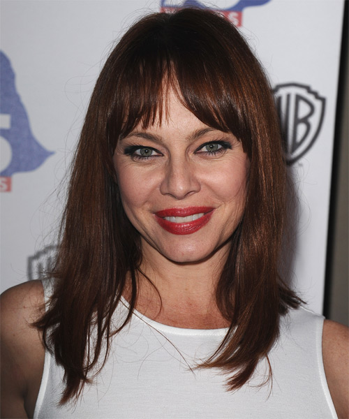 Melinda Clarke Casual Medium Straight Hairstyle