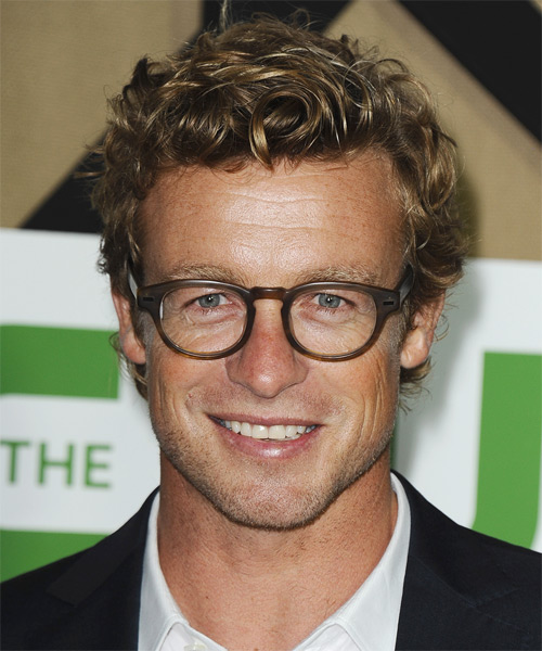 Simon Baker Short Curly Casual Hairstyle