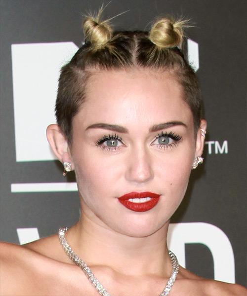 Miley Cyrus Short Straight Alternative Updo Hairstyle