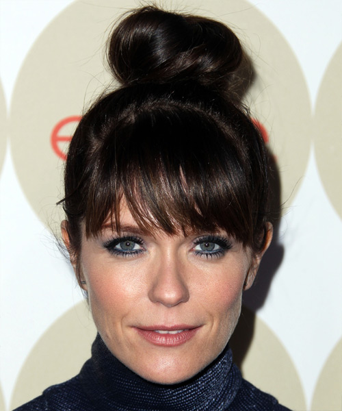 Katie Aselton Long Straight Casual Updo Hairstyle