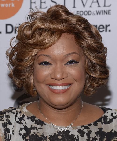 Sunny Anderson Short Curly Formal Hairstyle