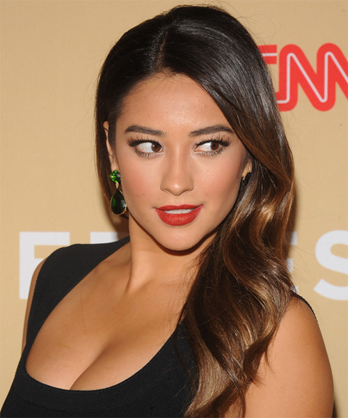 Shay Mitchell Formal Long Straight Hairstyle Dark