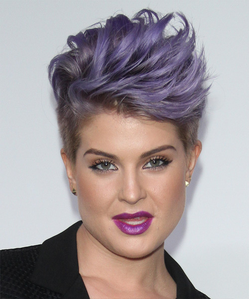 Kelly Osbourne Short Straight Formal Hairstyle Purple