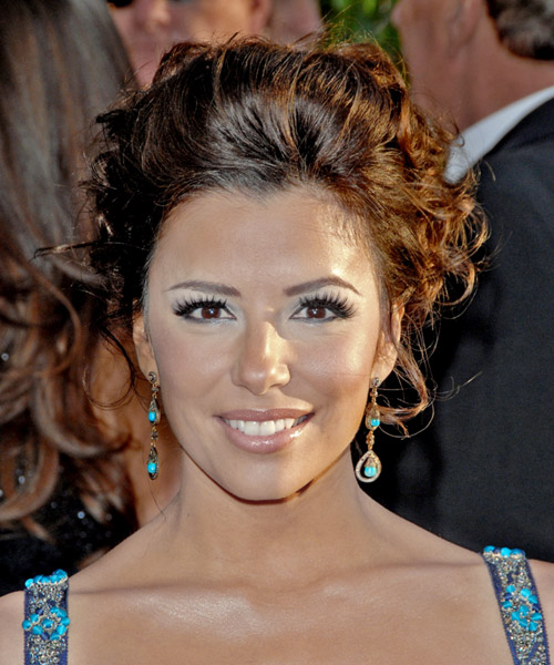 Eva Longoria Parker Long Curly Formal Updo Hairstyle