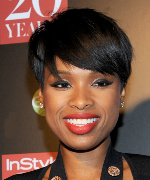 Jennifer Hudson Short Straight Formal Hairstyle With Side