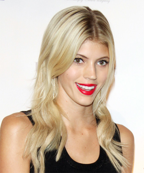 Devon Windsor Long Wavy Casual Hairstyle Light Blonde