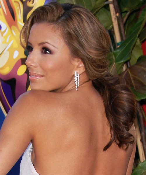 Eva Longoria Parker Long Wavy Formal Updo Hairstyle