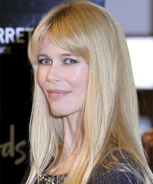 Claudia Schiffer Long Straight Casual Hairstyle