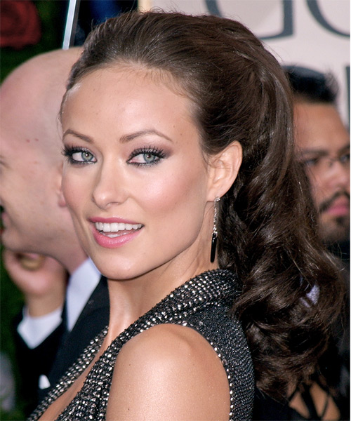 Olivia Wilde Long Curly Formal Updo Hairstyle