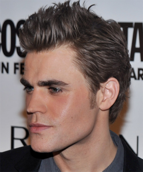 Paul Wesley Short Straight Casual Hairstyle Ash Hair Color