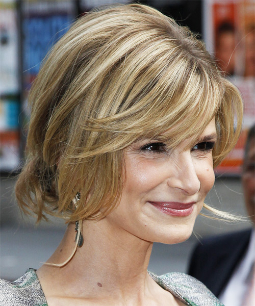Kyra Sedgwick Casual Long Straight Updo Hairstyle