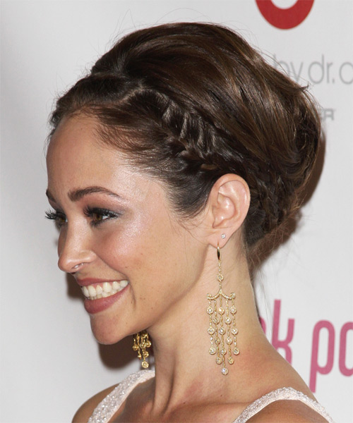 Autumn Reeser Long Straight Formal Updo Hairstyle