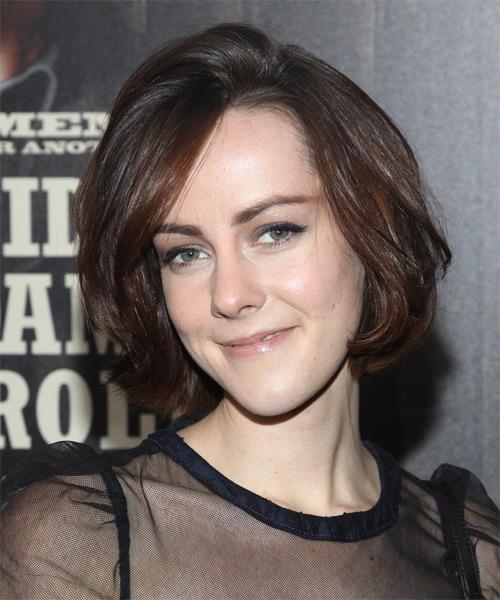 Jena Malone Medium Straight Casual Hairstyle Mocha Hair
