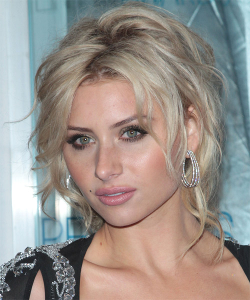 Alyson Michalka Long Curly Casual Updo Hairstyle Light