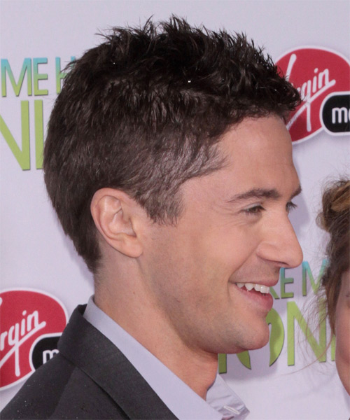 Topher Grace Casual Short Straight Hairstyle Brunette