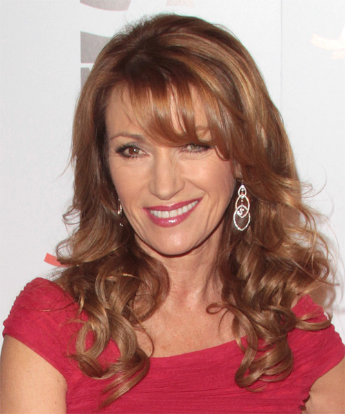 Jane Seymour Long Wavy Formal Hairstyle With Side Swept