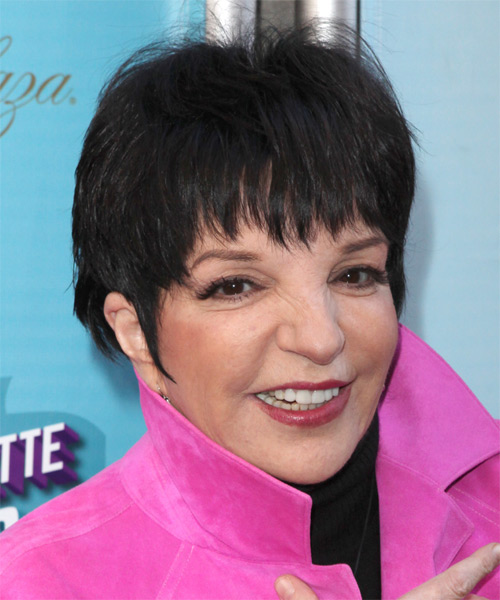 Liza Minnelli Short Straight Casual Hairstyle With Layered