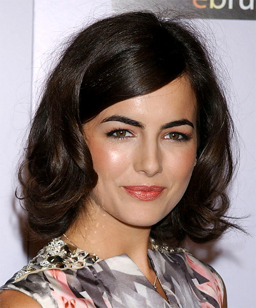 Camilla Belle Medium Wavy Formal Hairstyle With Side Swept