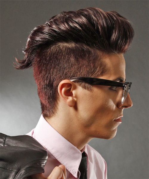 Round Face Hairstyle Short Mohawk Men