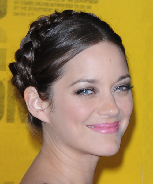 Marion Cotillard Long Curly Formal Braided Updo Hairstyle