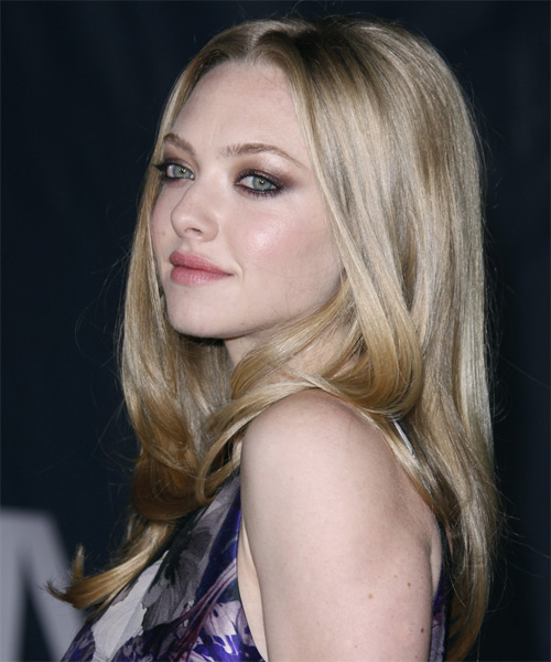 Amanda Seyfried Long Straight Formal Hairstyle Light