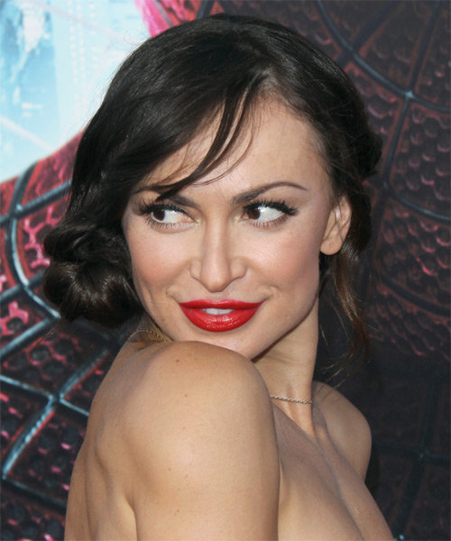 Karina Smirnoff Long Straight Formal Updo Hairstyle With