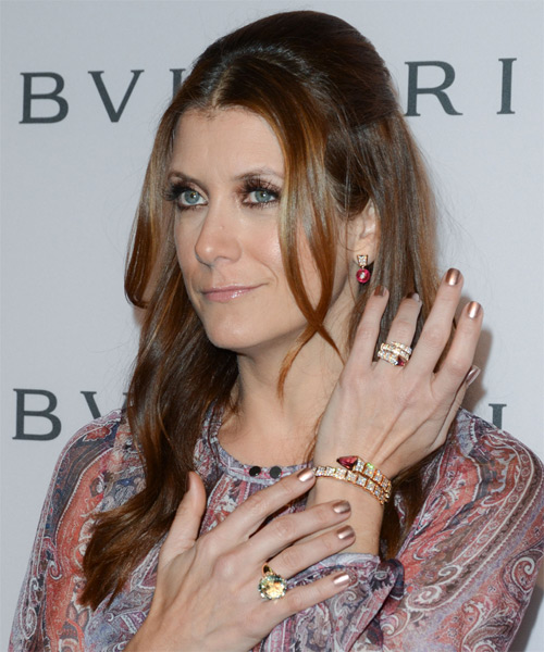 Kate Walsh Casual Long Straight Half Up Hairstyle Light