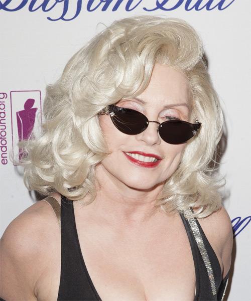 Debbie Harry Medium Wavy Formal Hairstyle