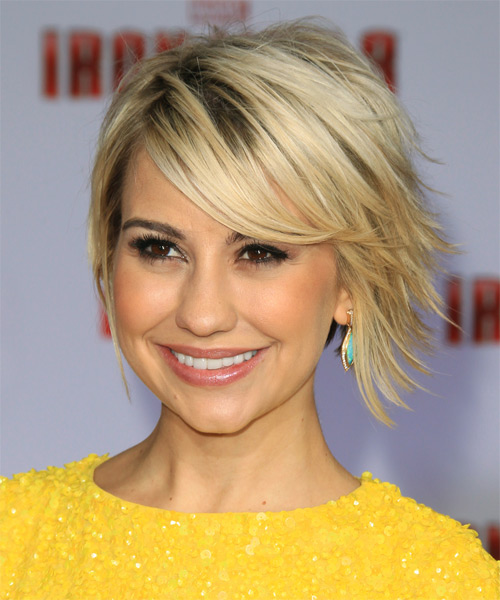 Chelsea Kane Short Straight Casual Hairstyle With Side