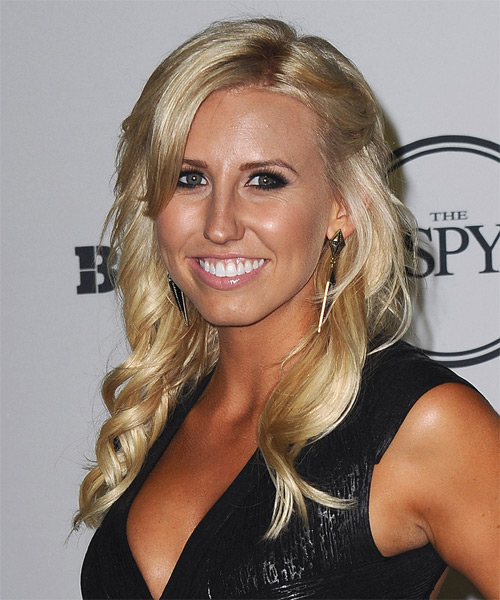 Courtney Force Casual Long Wavy Hairstyle