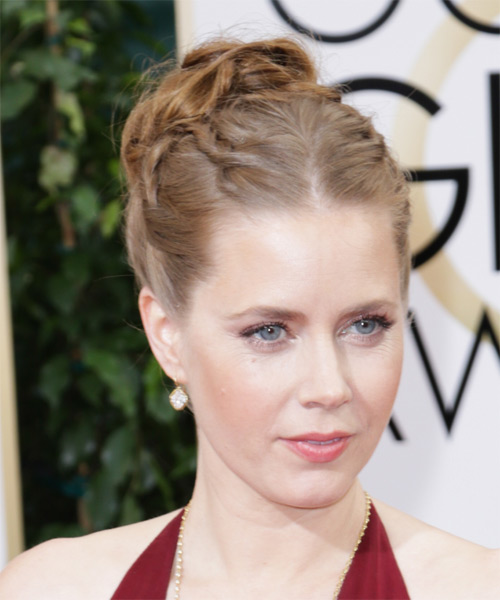 Amy Adams Long Curly Formal Updo Hairstyle Light