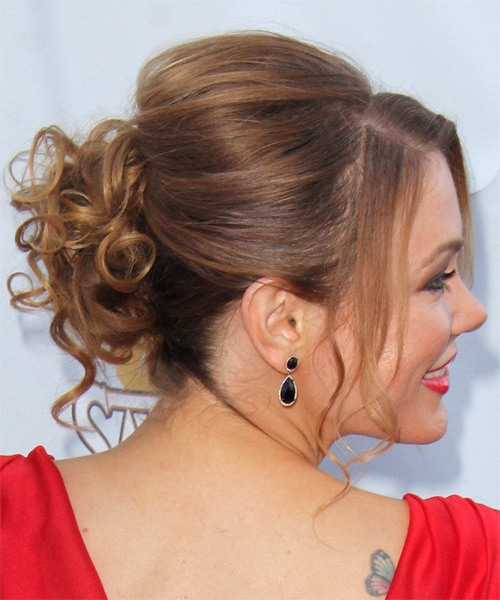 Maitland Ward Long Curly Formal Updo Hairstyle With Side
