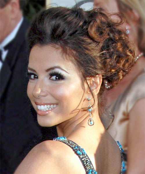 Eva Longoria Parker Formal Long Curly Updo Hairstyle