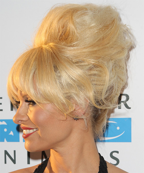 Pamela Anderson Alternative Long Straight Updo Hairstyle