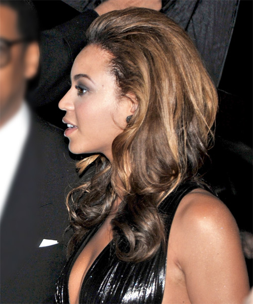 Beyonce Knowles Formal Long Wavy Hairstyle Dark