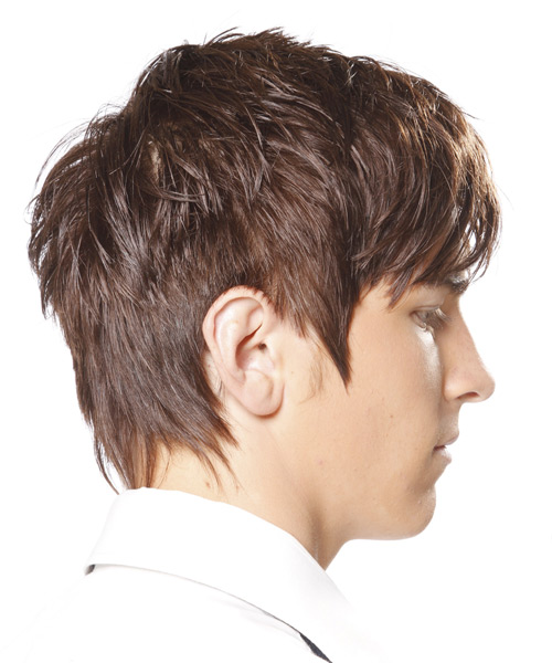 Short Straight Casual Hairstyle With Razor Cut Bangs