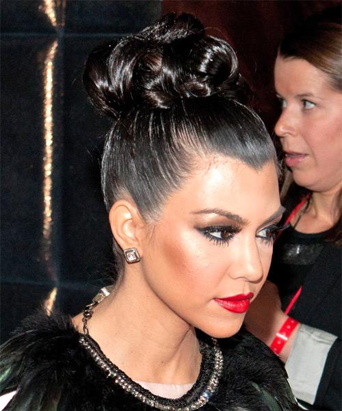 Kourtney Kardashian Long Curly Formal Updo Hairstyle