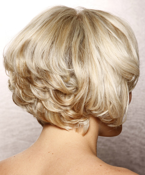 Short Wavy Formal Hairstyle With Side Swept Bangs Light