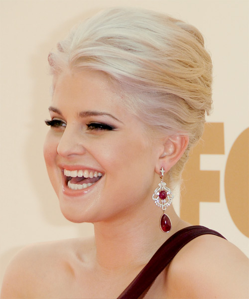 Kelly Osbourne Long Straight Formal Updo Hairstyle Light