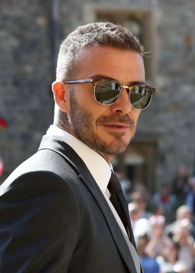 david beckham walked into the royal wedding with a classic