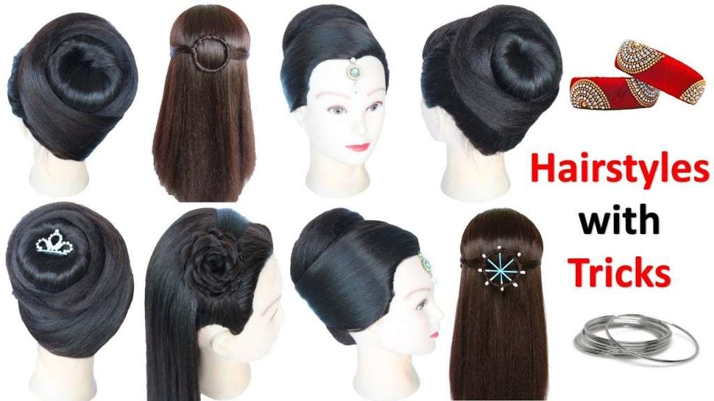 6 Easy Hairstyles With Using Bangle Juda Hairstyle