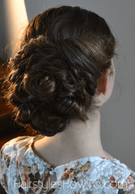 Pin Curl Bun Updo Tutorial Hairstyles How To