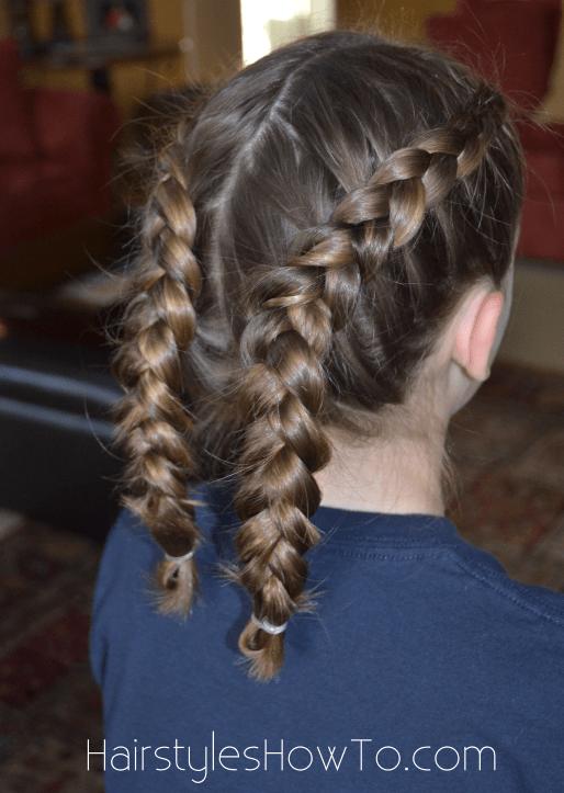 Dutch Braids Into Bun Tutorial Hairstyles How To