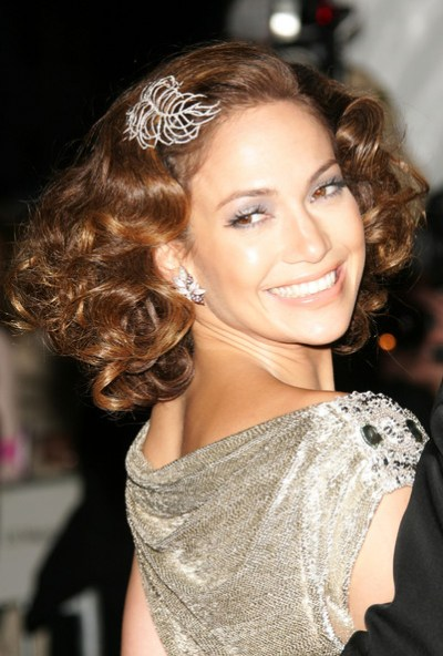 Jennifer Lopez wedding updo hairstyle