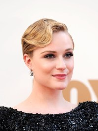Celebrity finger wave hairstyle for prom