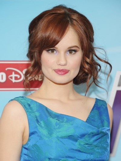 Debby Ryan Side Swept Curly Updos