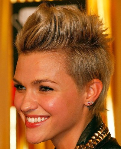 2013 short  FauxHawk Hairstyle for women