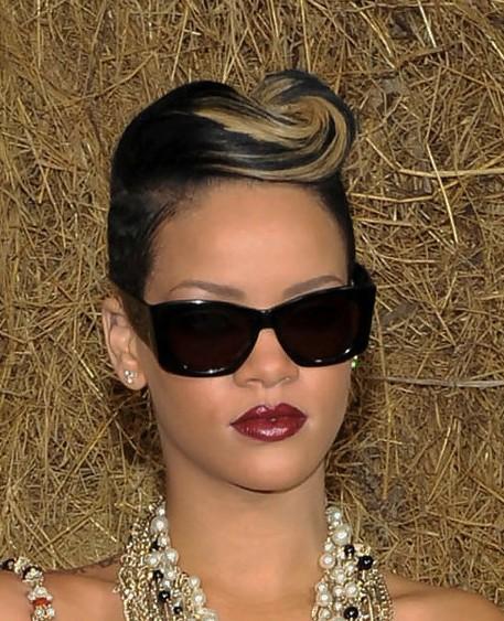 Rihanna Pompadour Hairstyle
